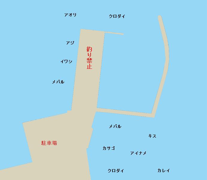 佐田浜港ポイント図