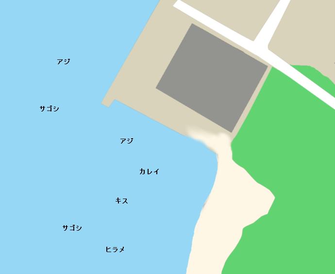 福井新港サッカー場下ポイント図