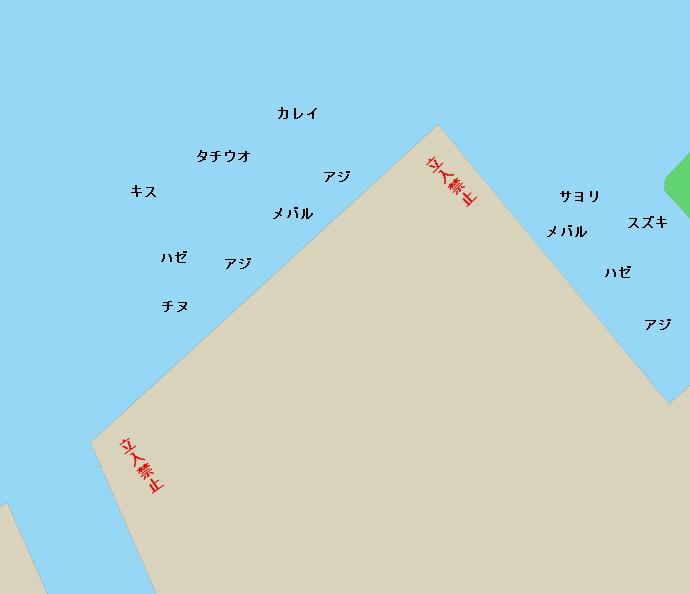 坂出港林田岸壁ポイント図