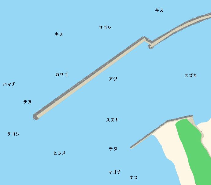 三国港ポイント図