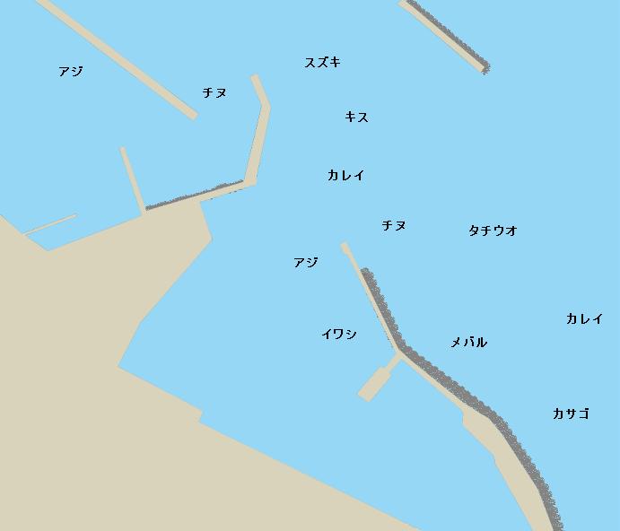 三本松港ポイント図