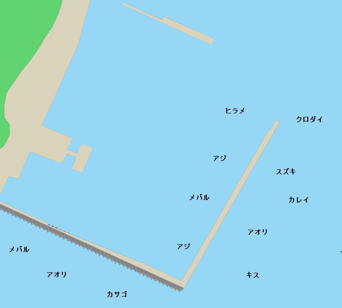 西海漁港ポイント図
