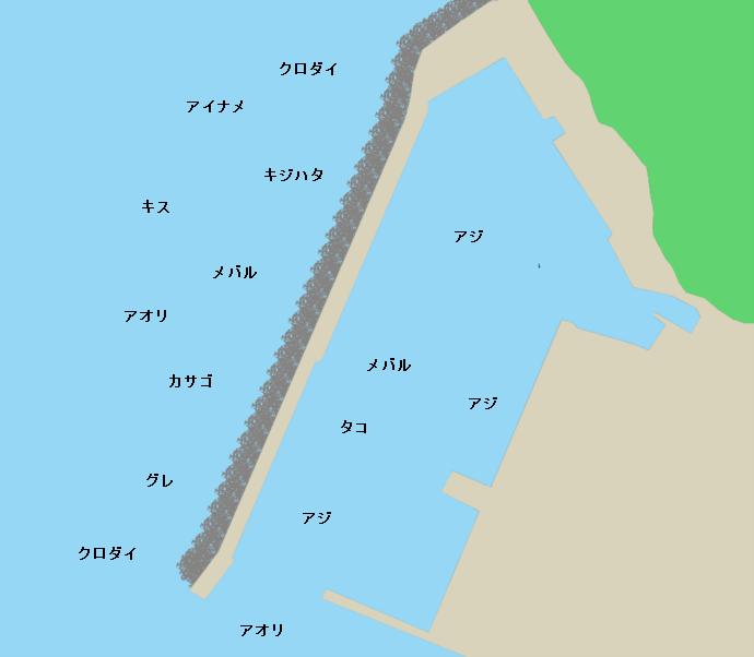 世久見漁港ポイント図