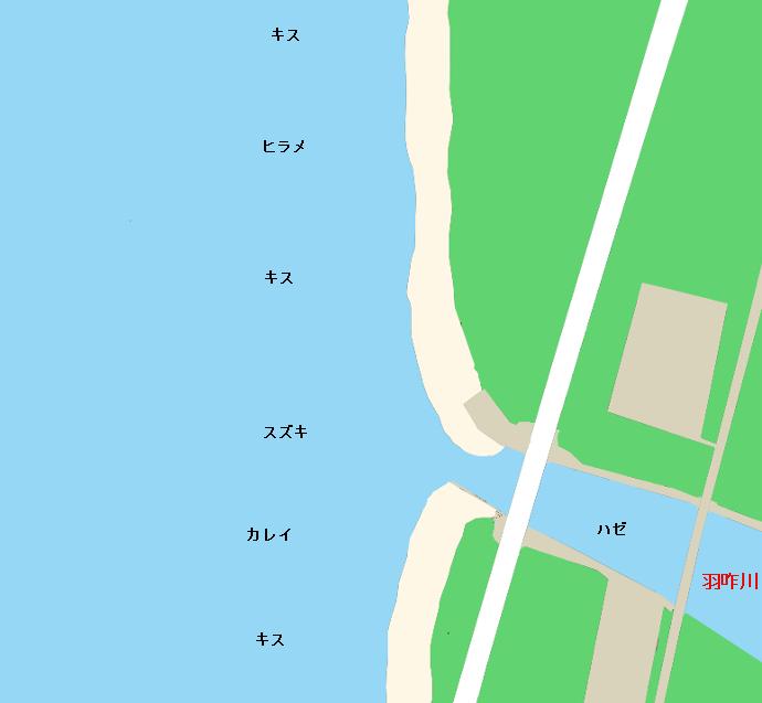 千里浜ポイント図