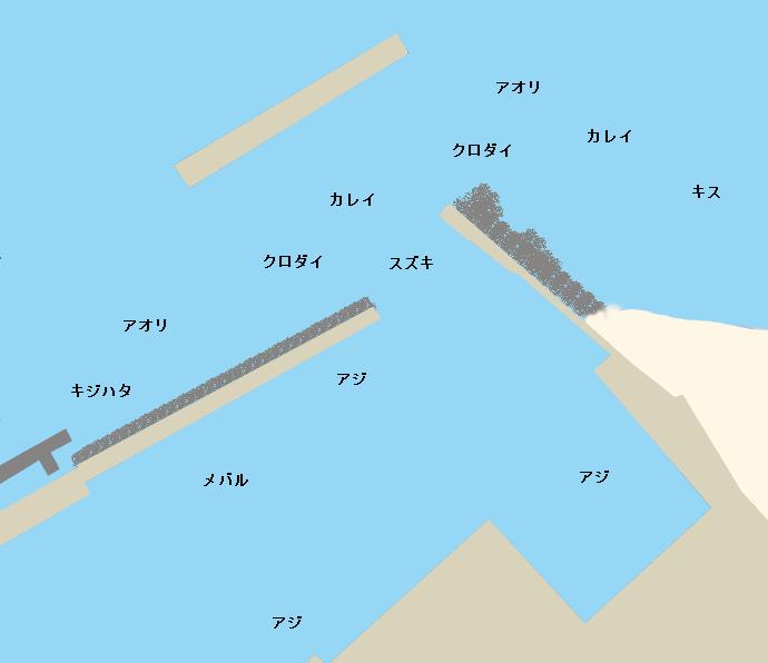 四方漁港ポイント図