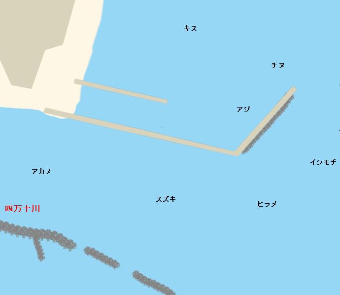 四万十川河口ポイント図