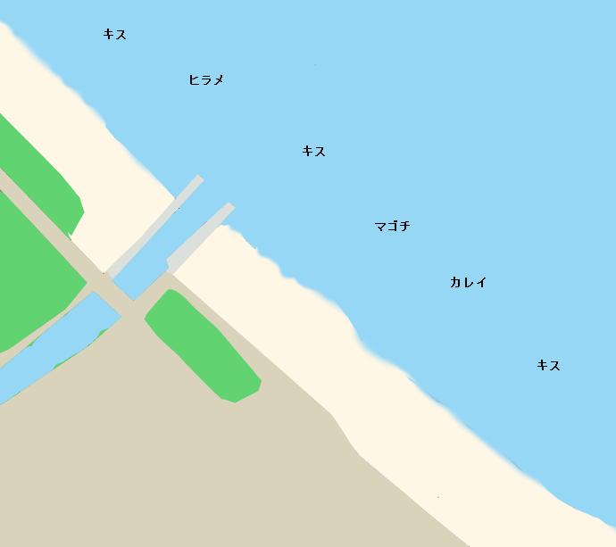 島尾海岸ポイント図