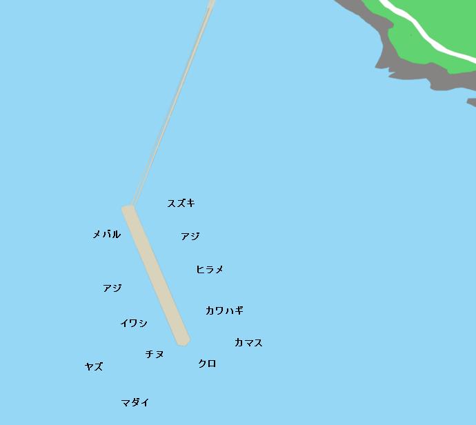 下関フィッシングパークポイント図