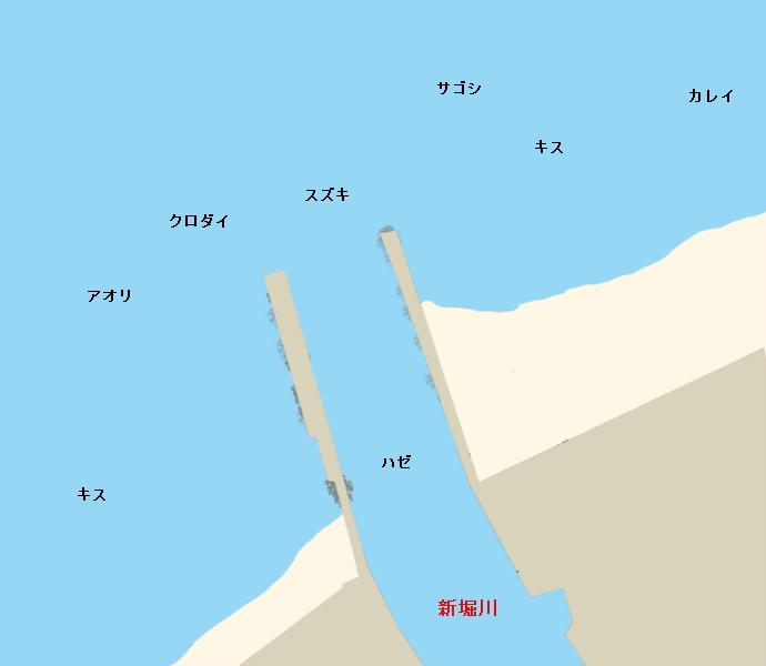 新堀川河口ポイント図