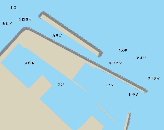 新湊西港ポイント図