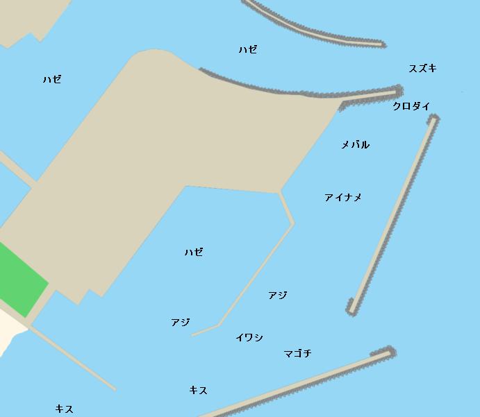 白子港ポイント図
