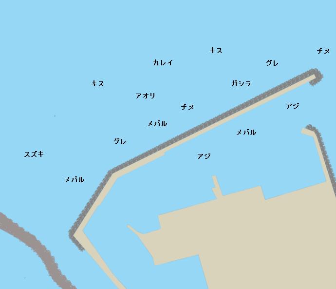 下荘漁港ポイント図