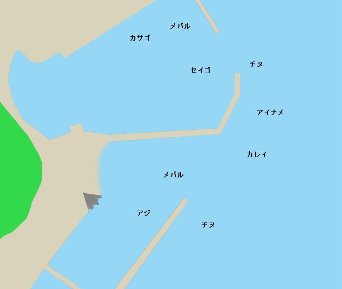 下津井港ポイント図