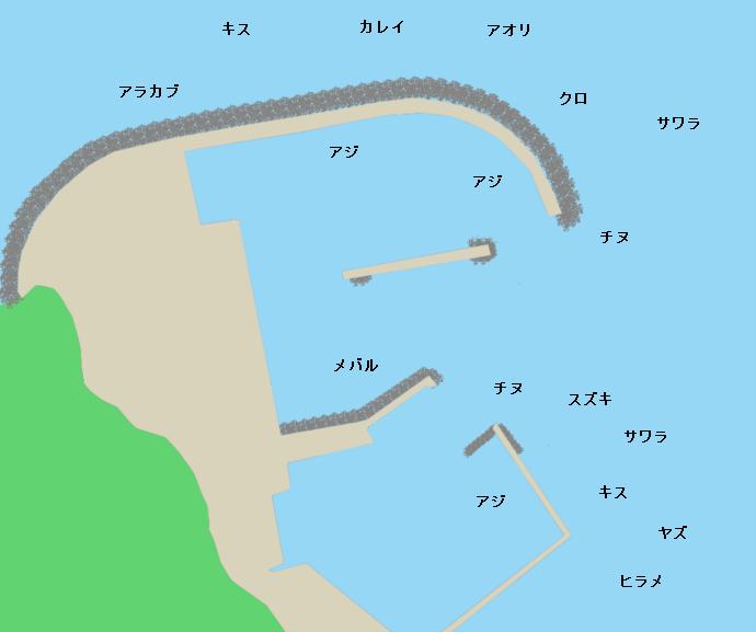 新宮漁港ポイント図