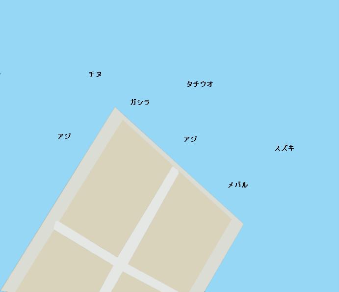 潮見埠頭ポイント図