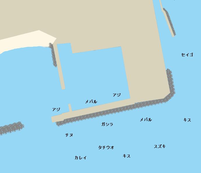 塩屋漁港ポイント図