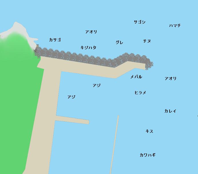 白木漁港ポイント図