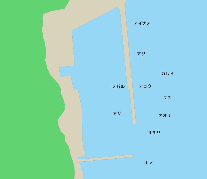 白杉漁港ポイント図