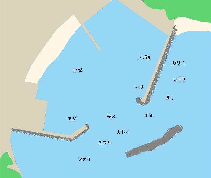 相差漁港ポイント図