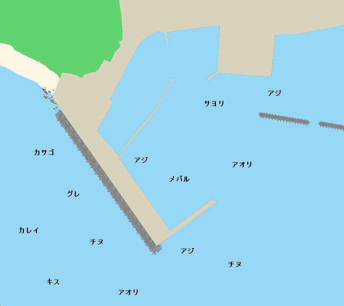 菅浜港ポイント図