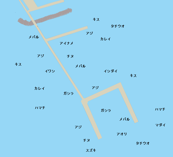 須磨海釣り公園ポイント図