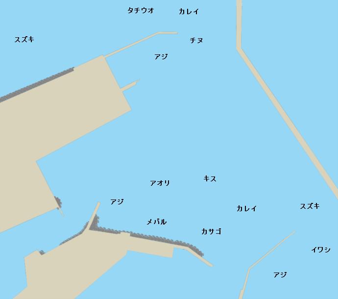 洲本港ポイント図