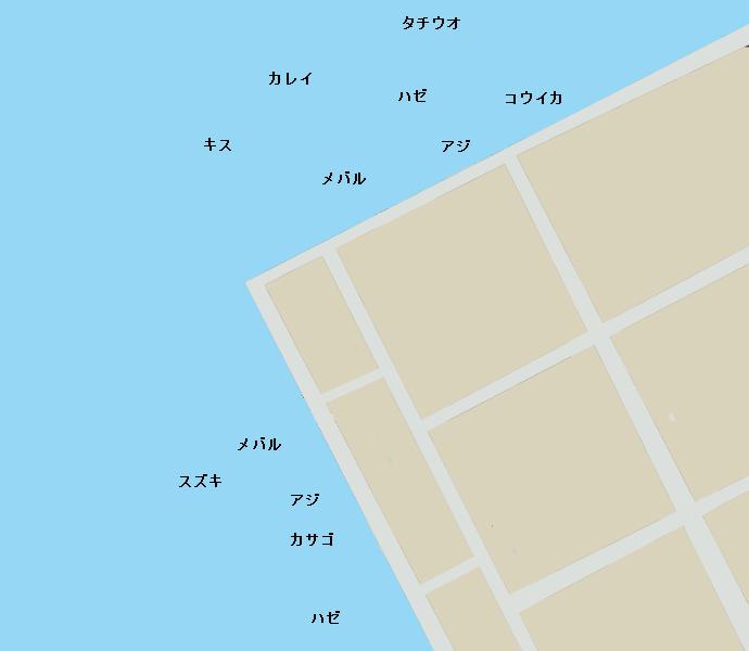 須崎埠頭ポイント図