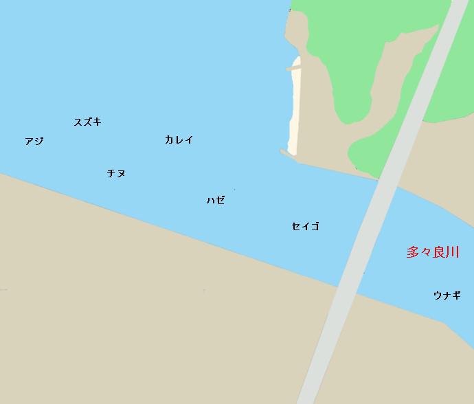 多々良川河口ポイント図