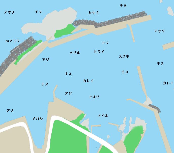 田後港ポイント図