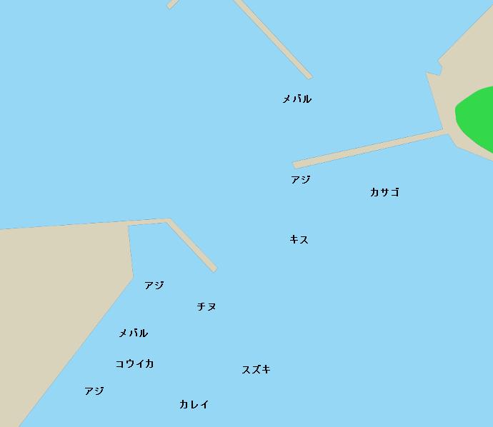 日比港ポイント図