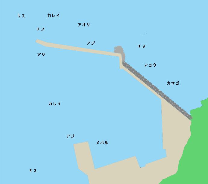 田井漁港ポイント図