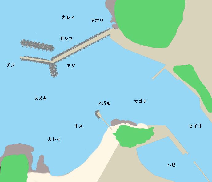 竹野港ポイント図