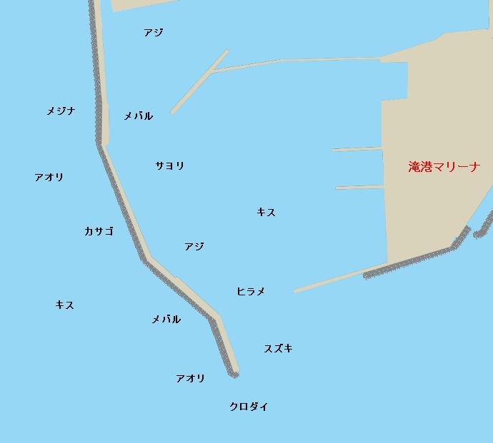 滝港ポイント図