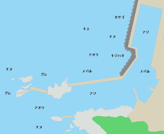 高佐漁港ポイント図