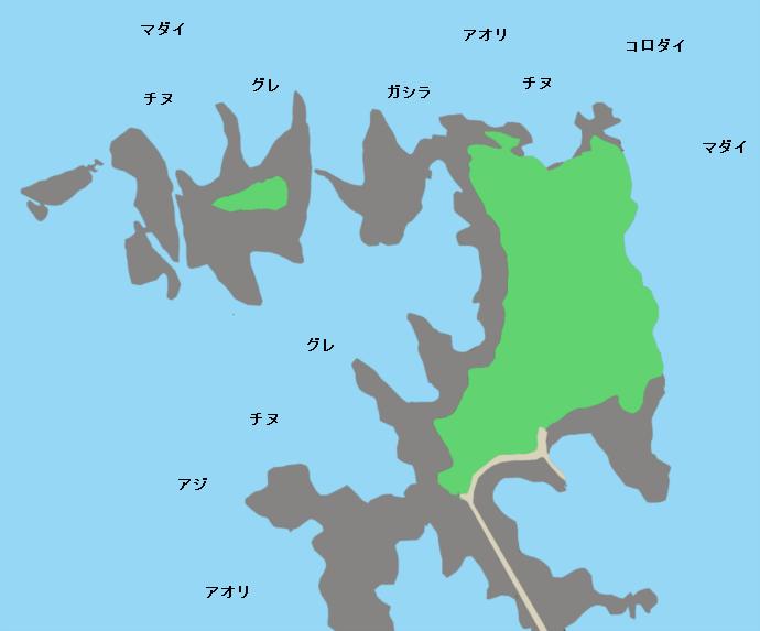 田辺元島ポイント図