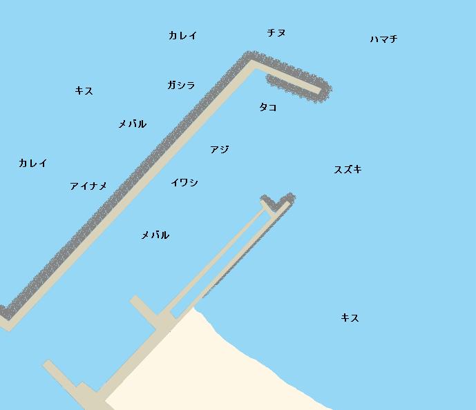 樽井漁港ポイント図