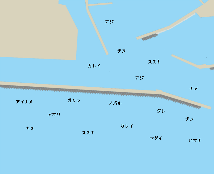 垂水一文字ポイント図