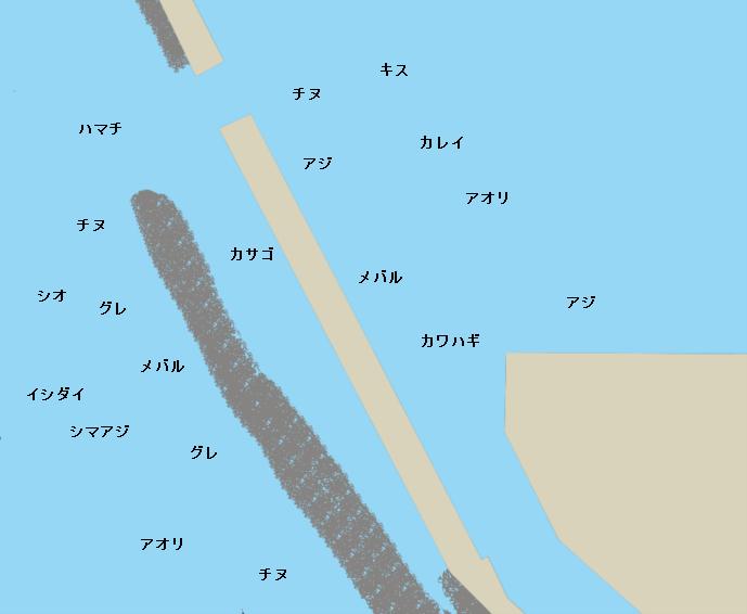 田曽大突堤ポイント図
