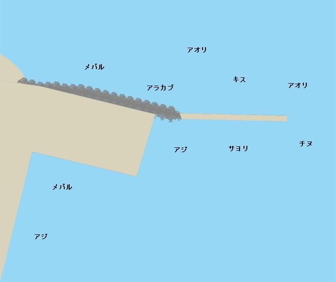 竹田津港ポイント図