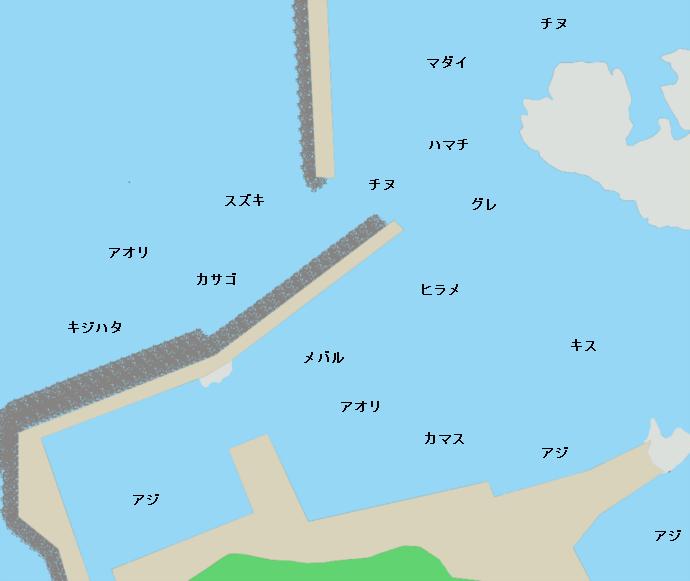 鷹巣漁港ポイント図