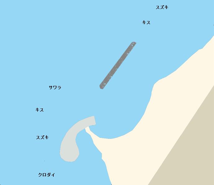 徳光海岸ポイント図