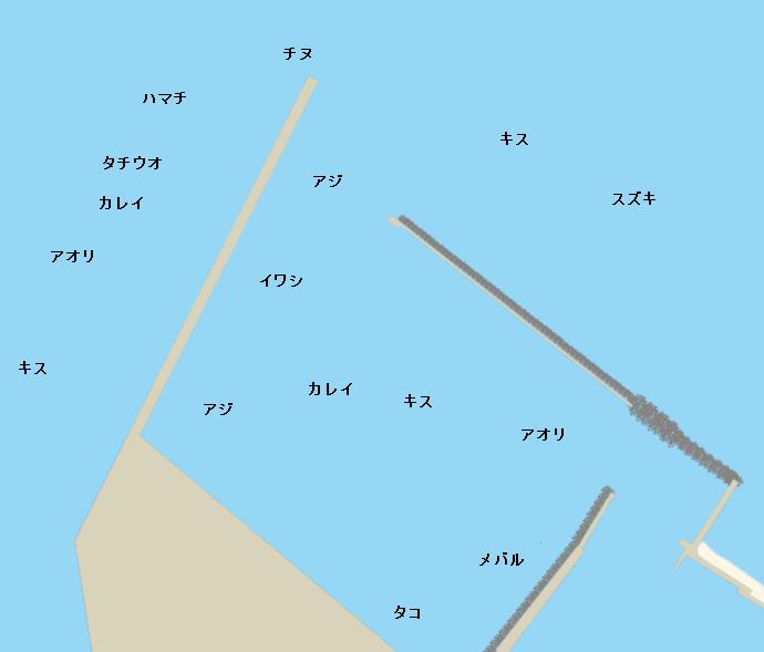 都志港ポイント図
