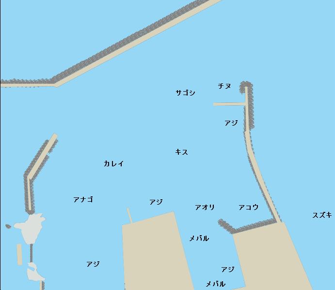 鳥取港ポイント図