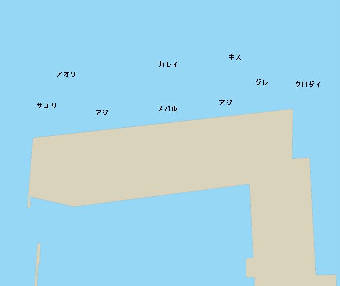 敦賀港ポイント図