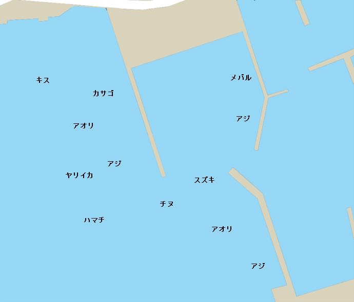 通漁港ポイント図