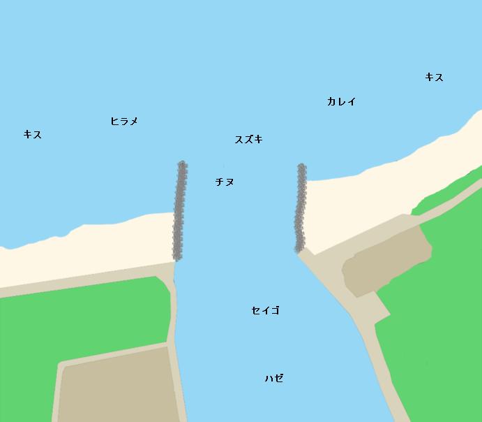 釣川河口ポイント図