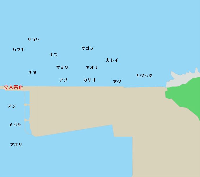 敦賀新港ポイント図