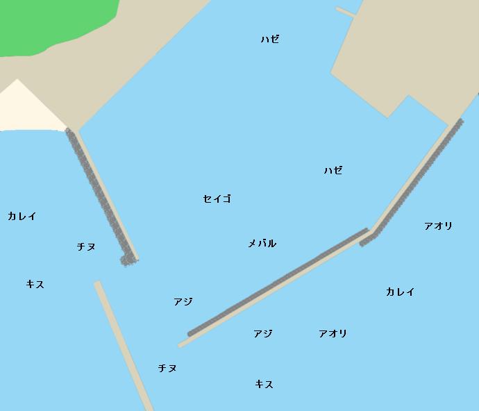 津屋崎漁港ポイント図