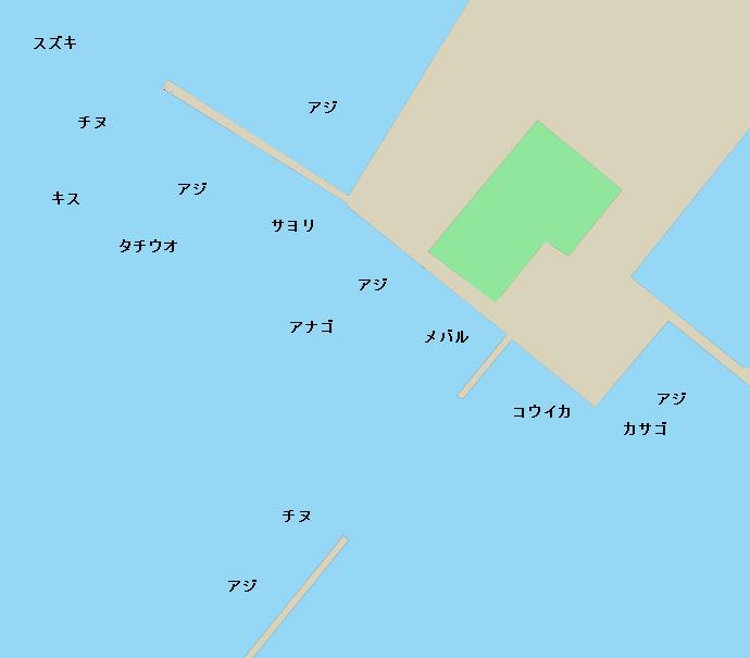 宇部港ポイント図