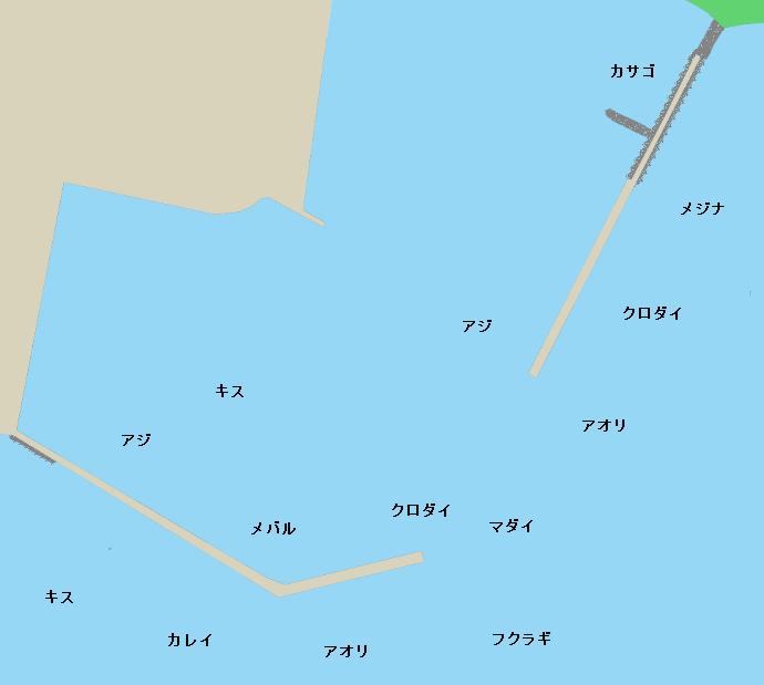 宇出津港ポイント図